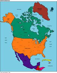 Latin America Political Map by America Map America