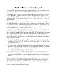 Professional Summary For Resume Examples  example career summary     how to write a summary on a resume summary of qualifications how