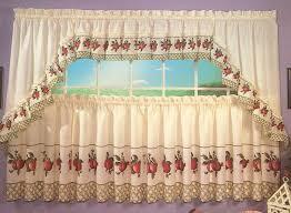 apple trellis kitchen curtains