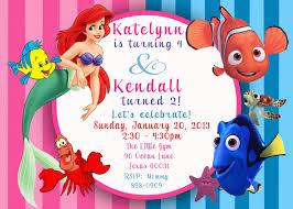Free Printable Birthday Invitation Cards With Photo Free Printable Little Mermaid Printable Birthday Invitations