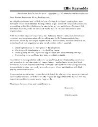 Best Software Developer Resume by Best Software Testing Cover Letter Examples Livecareer