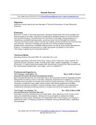 Executive Summary Resume Example Template How To Write Good Objective For A Resume Marvellous Catchy Resume