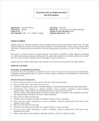 Resume Job Profile by Sample Customer Service Representative Resume 7 Examples In Pdf
