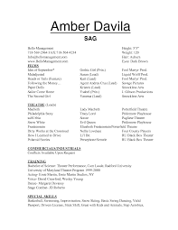 Qualifications Resume Example by Musical Theatre Resume Template