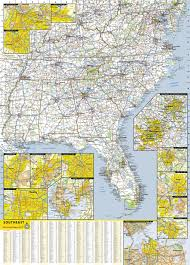 Southeast Map Southeastern Usa National Geographic Guide Map National
