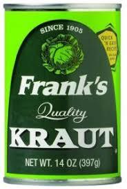 using Frank's Sauerkraut