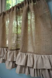 Kitchen Drapery Ideas Best 25 Burlap Kitchen Curtains Ideas On Pinterest Farmhouse