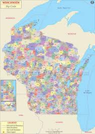 Wisconsin Weather Map by Wisconsin Zip Code Map Wisconsin Postal Code