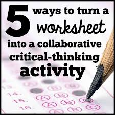 Math Critical Thinking Worksheets   Mreichert Kids Worksheets Eetrex Printables Worksheets for Students