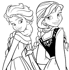 frozen coloring pages movie printables pinterest elsa