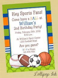 birthday invites awesome sports birthday invitations designs free