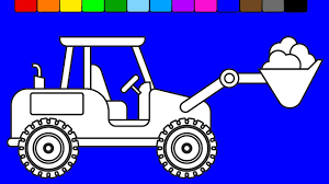 construction truck coloring pages learn colors for kids with