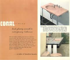 Eljer Bathroom Faucet The Color Pink In Bathroom Sinks Tubs And Toilets From 1927