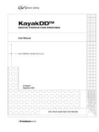 kayak mixer menu computing documentation
