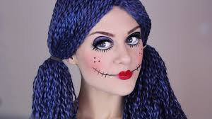 broken doll halloween costume scary doll make up tutorial for halloween youtube