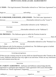montana rental agreement for excel pdf and word