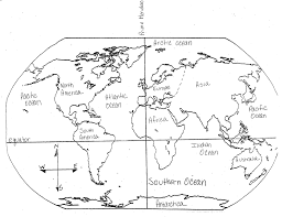 Mr Guerriero     s Blog  September      Mr Guerriero s Blog Blank and Filled in Maps of the Continents and Oceans