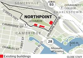 T Boston Map by 300 Million Deal Jumpstarts Northpoint Development In Cambridge