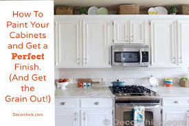How To Paint Your Cabinets Like The Pros And Get The Grain Out - Can you paint your kitchen cabinets
