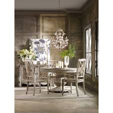 Round Dining Table Sets For 6 Hooker Furniture Sunset Point Round Pedestal Dining Table Hayneedle