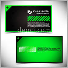 Business Card Eps Template Green Simple Striped Style Of Business Card Design Illustrator