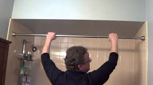 Angled Shower Curtain Rod Shower Curtain Rod Holder Nujits Com