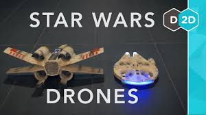 millennium falcon vs x wing star wars drones review youtube