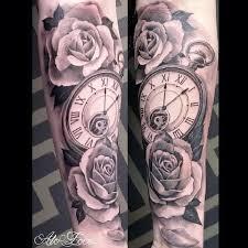 Tattoo Designs Half Sleeve Ideas The 25 Best Clock And Rose Tattoo Ideas On Pinterest Clock
