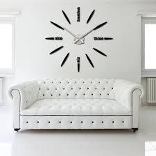 wall clocks modern modern crowd blackout orange circle clock