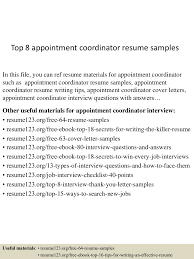 Appointment Letter Sample For Subcontractor Top8appointmentcoordinatorresumesamples 150517021743 Lva1 App6891 Thumbnail 4 Jpg Cb 1431829112