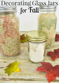 decorating glass jars for fall organized 31