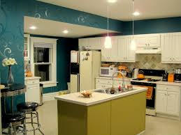 budget kitchen updates accent wall and faux painted backsplash
