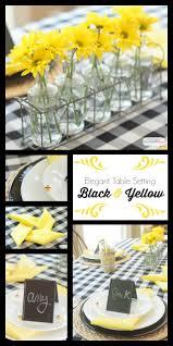 black u0026 yellow table decoration ideas