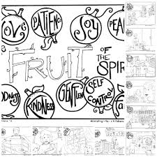 elegant fruit of the spirit coloring pages beautiful coloring