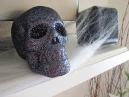 Home Interiors Party Catalog Halloween Decorating Ideas Indoor With Black Stone Skull On White