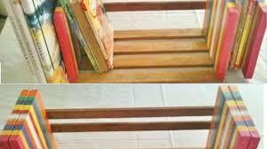 make an easy and adjustable table top book rack diy home