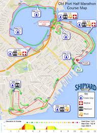 Map Of Portland Maine by Half Marathon Course Map U2013 Shipyard Old Port Half Marathon U0026 5k