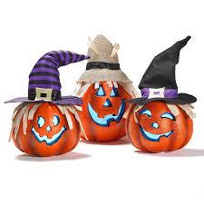 amazon com prextex set of three happy halloween light up jacko