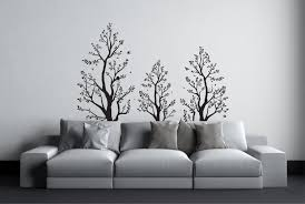 forest wall decals etsy tree wall sticker with birds above bed decor over decal