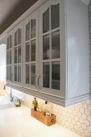 Tiling A Kitchen Backsplash Remodelaholic Gray And White Kitchen Makeover With Hexagon Tile