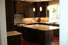 Painting Kitchen Cabinets Espresso Dining U0026 Kitchen Enchanting Espresso Kitchen Cabinets And Pendant