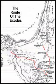 Exodus Route Map by British Israel Us