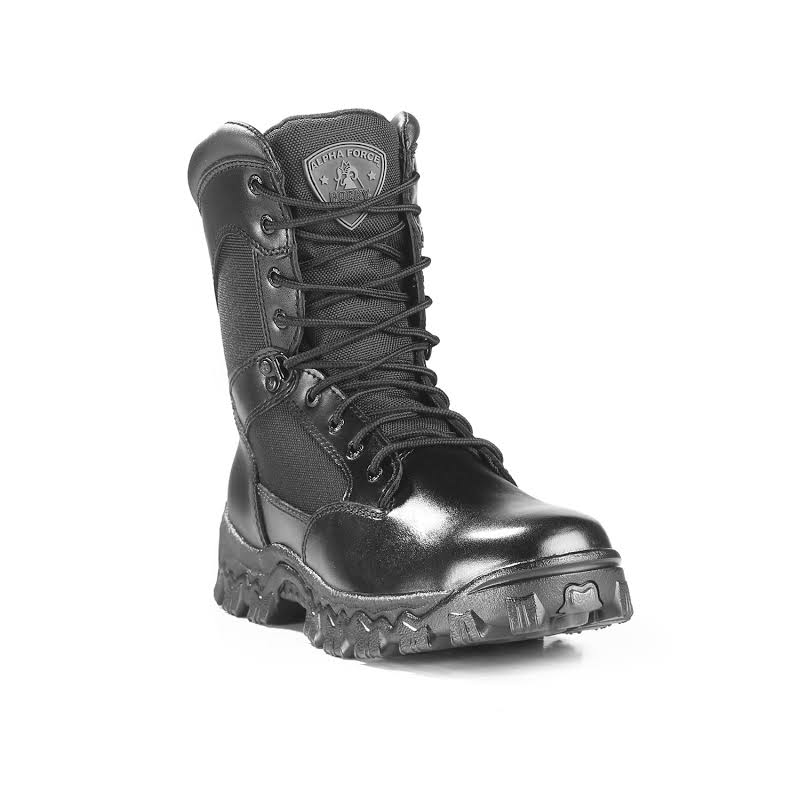 Rocky 8in ALPHA FORCE Boots Black- Mens
