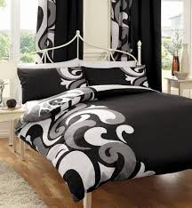black white u0026 grey printed king size duvet cover bed set amazon