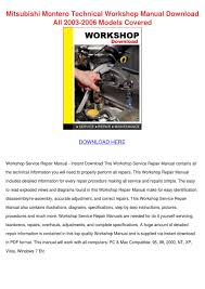 100 2002 mitsubishi montero sport repair manual mitsubishi