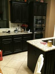 White Kitchen Cabinets With Black Granite Countertops by Stained Kitchen Cabinets Standard Eased Edge White Granite