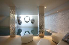 indoor swimming pool with comfy lounge in modern luxury dreams
