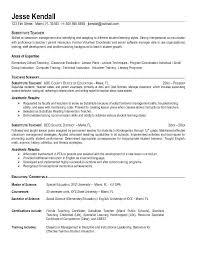 Teacher Job Description Resume  job description example for     Experience Sample Resume  cv format pdf for teaching job feat       sample
