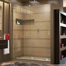 shop dreamline mirage x frameless chrome sliding shower door at
