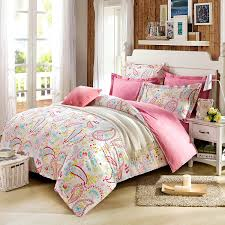 Girls Bedding Full by Amazon Com Cliab Paisley Bedding Pink Twin Or Queen For Teen